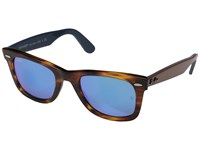 Ray Ban Rb2140 Original Wayfarer 54Mm Havana Blue Mirror Sport Sunglasses Brown