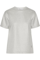 Alexander Wang Coated French Cotton Terry Top Gray