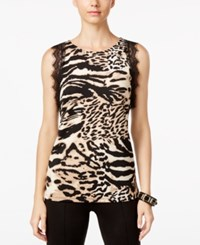 Inc International Concepts Animal Print Lace Trim Top Only At Macy's Animal Mosaic