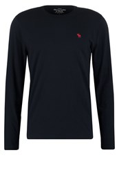 Abercrombie And Fitch Muscle Fit Long Sleeved Top Navy Dark Blue