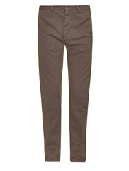 Massimo Alba Textured Cotton And Cashmere Blend Chino Trousers