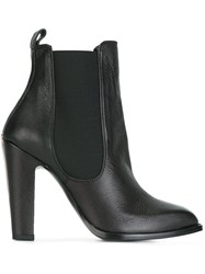 Alexander Mcqueen Pointed Toe Ankle Boots Black