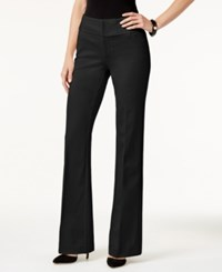 Inc International Concepts Curvy Flared Ponte Pants Only At Macy's Deep Black