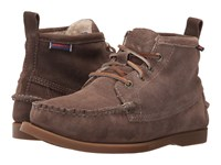 Sebago Beacon Shearling Dark Taupe Suede Women's Shoes Brown