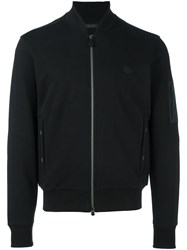 Z Zegna Zipped Cardigan Black