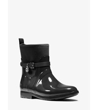 Charm Nylon And Rubber Ankle Rain Boot