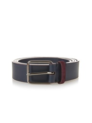 Jil Sander Cut Out Bi Colour Calf Leather Belt