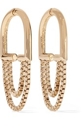 Eddie Borgo Allure Chain Gold Plated Hoop Earrings
