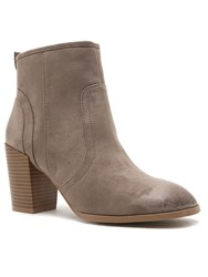 Qupid Wagon Ankle Boot Taupe