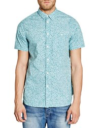 Bench Liberal Animal Printed Shirt Blue