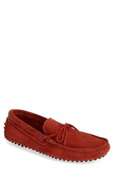 Men's Sandro Moscoloni 'Sicily' Suede Driving Shoe Orange