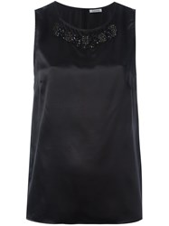 P.A.R.O.S.H. Embellished Sleeveless Blouse Black