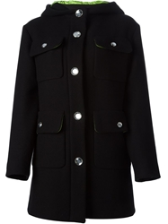 Moschino Cheap And Chic Patch Pocket Detail Coat Black