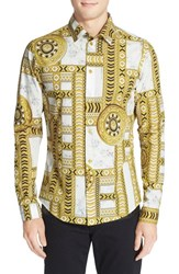 Men's Versace Jeans Slim Fit Marble Print Sport Shirt