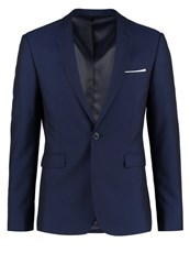 Burton Menswear London Midnight Suit Jacket Navy Dark Blue