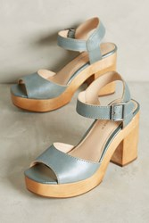 Anthropologie Kelsi Dagger Brooklyn Front Platforms Blue