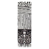 Bianca Elgar Sploshes Summer Oblong Scarf Black White