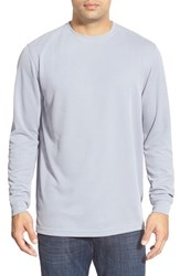 Men's Bugatchi Long Sleeve Crewneck Sweatshirt Platinum