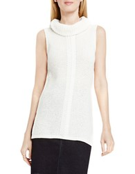 Vince Camuto Sleeveless Cable Stitch Sweater Antique White