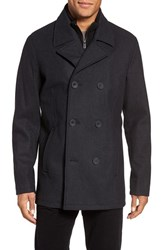 Kenneth Cole Men's New York Wool Blend Peacoat Charcoal
