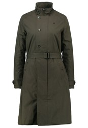 G Star Gstar Minor Ts Trench Trenchcoat Asfalt Oliv