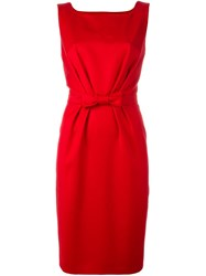 Boutique Moschino Bow Detail Midi Dress Red