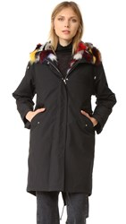 Army By Yves Salomon Fishtail Parka With Fur Black