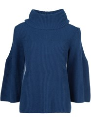 Dorothee Schumacher Cold Shoulder Detail Jumper Blue
