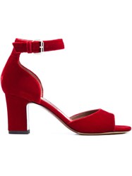 Tabitha Simmons Ankle Strap Sandals Red