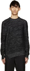 Alexander Mcqueen Black Wool And Cashmere Asymmetric Sweater
