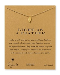 Dogeared Light As A Feather Necklace 18 Gold