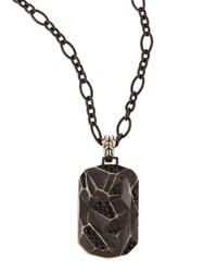 Men's Classic Chain Lava Dog Tag Chain Necklace Silver John Hardy