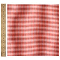 John Lewis Check Print Fabric Red