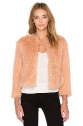 1. State Faux Fur Jacket Blush