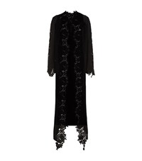 Elie Saab Lace Trim Duster Coat Female Black