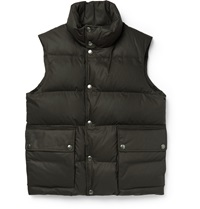 Dunhill Cotton Down Gilet Brown