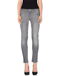 Fifty Four Denim Denim Trousers Women Grey