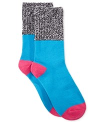 Hot Sox Colorblock Marled Boot Socks Turquoise