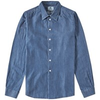 Paul Smith Tailored Fit Denim Shirt Blue