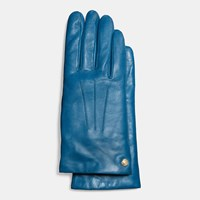 Coach Short Leather Glove Bright Mineral