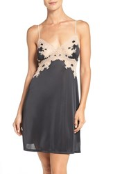 Natori Women's 'Enchant' Chemise Black W Cafe Lace
