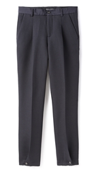 Melindagloss Buttoned Pleated Pants Navy