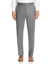 Jack Victor Loro Piana Stretch Flannel Classic Fit Trousers 100 Bloomingdale's Exclusive Light Grey