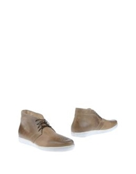 Primabase High Top Dress Shoes Khaki