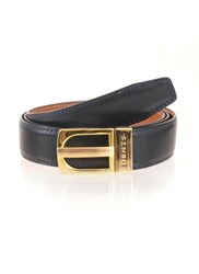 Dents Leather Belt Navy