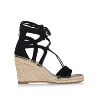 Vince Camuto Tannon High Wedge Heel Sandals Black
