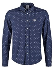 Franklin And Marshall Martins Shirt Dark Blue