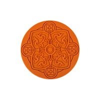 Images D'orient Round Urban 01 Coaster Carrot