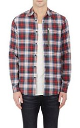 R 13 R13 Men's Button Front Shirt Red