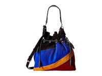Patricia Nash Caffarelli Large Drawstring Black Multi Drawstring Handbags